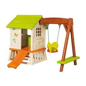 Игровой домик Smoby, с качелями и горкой