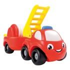 """Машинка Vroom Planet """"Мини грузовик пожарный"""", с прицепом"""