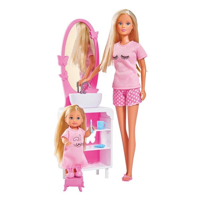 """Куклы Время умываться """"Штеффи и Еви"""", 29 см., 12 см"""