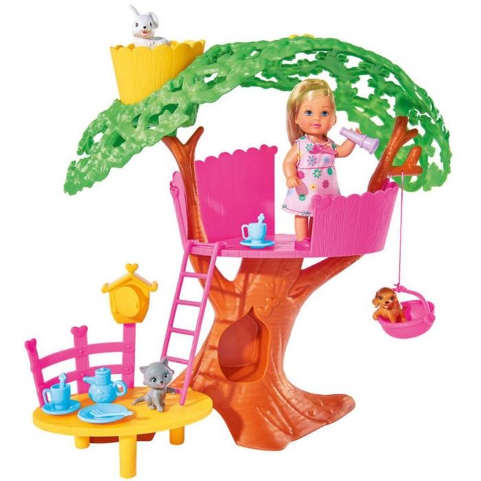 """Кукла """"Еви"""", набор """"Домик на дереве"""", высота 32 см, 12 см"""