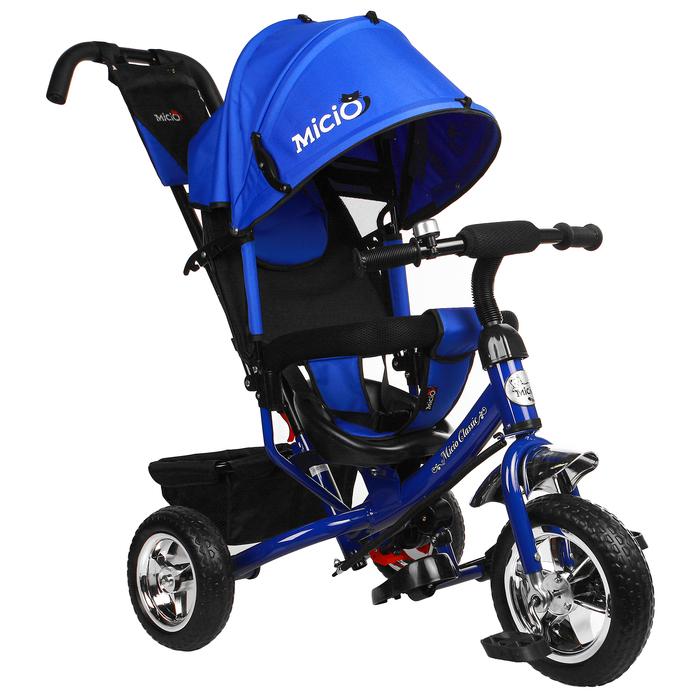 """Велосипед трёхколёсный Micio Classic 2019, колёса EVA 10""""/8"""", цвет синий"""