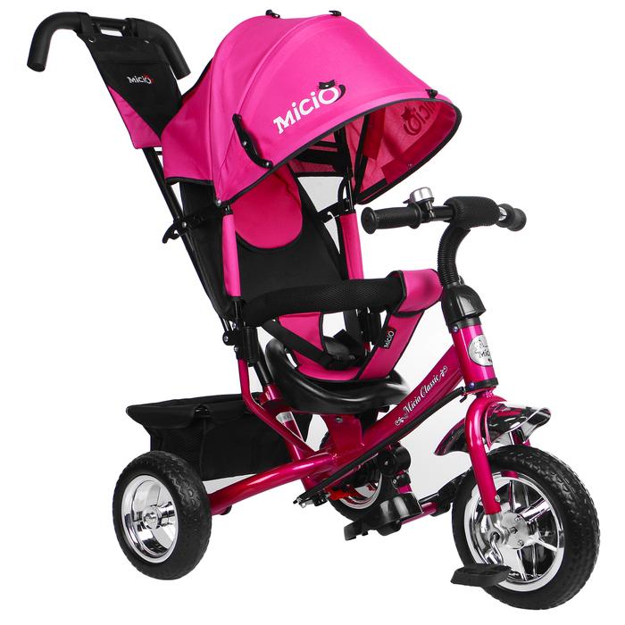 """Велосипед трёхколёсный Micio Classic 2019, колёса EVA 10""""/8"""", цвет розовый"""