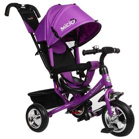 """Велосипед трёхколёсный Micio Classic 2019, колёса EVA 10""""/8"""", цвет фиолетовый"""