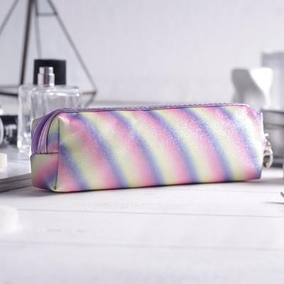 Косметичка-пенал, отдел на молнии, с ручкой, цвет разноцветный