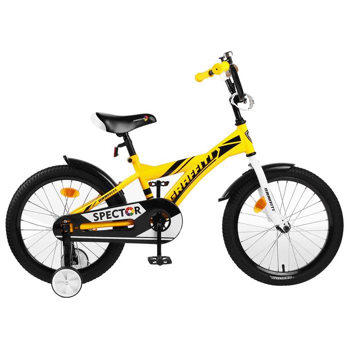 "Велосипед 18"" Graffiti Spector, цвет жёлтый/чёрный"