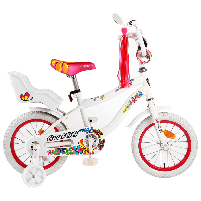 "Велосипед 14"" Graffiti Foxy, цвет белый"
