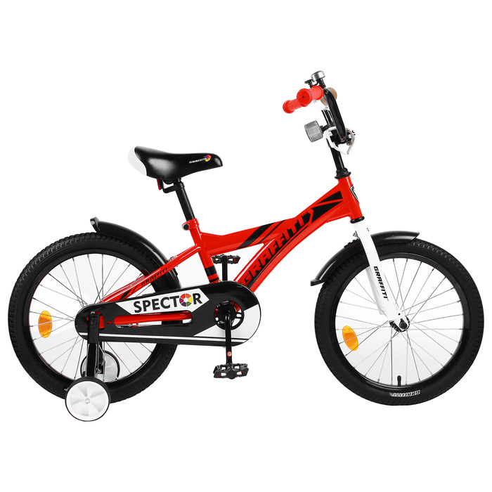 """Велосипед 18"""" Graffiti Spector, цвет красный"""
