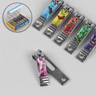 Кусачки-книпсер маникюрные, с пилкой, 5 см, рисунок МИКС