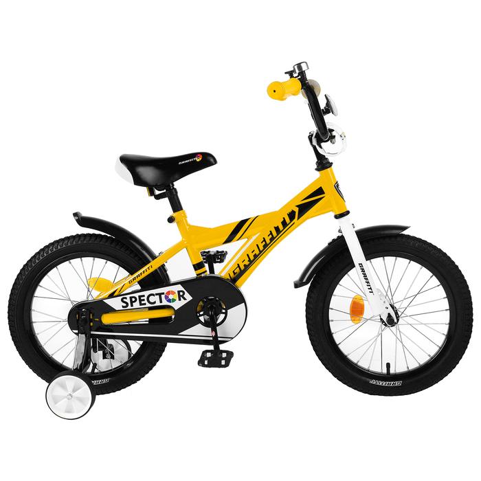 "Велосипед 16"" Graffiti Spector, цвет жёлтый/чёрный"