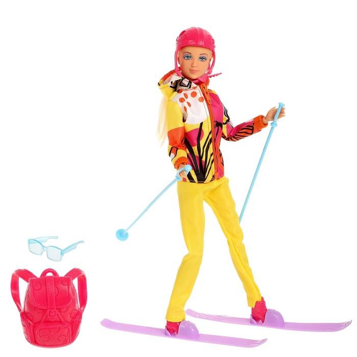 Кукла модель «София» на лыжах, МИКС, в пакете