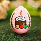 """Яйцо расписное """"Кулич"""" 7 см"""