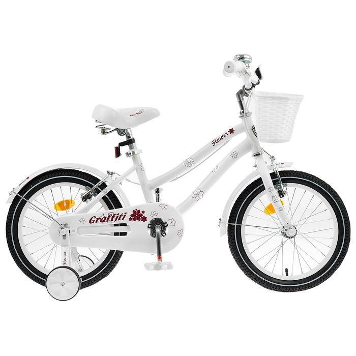"Велосипед 18"" Graffiti Flower, цвет белый"