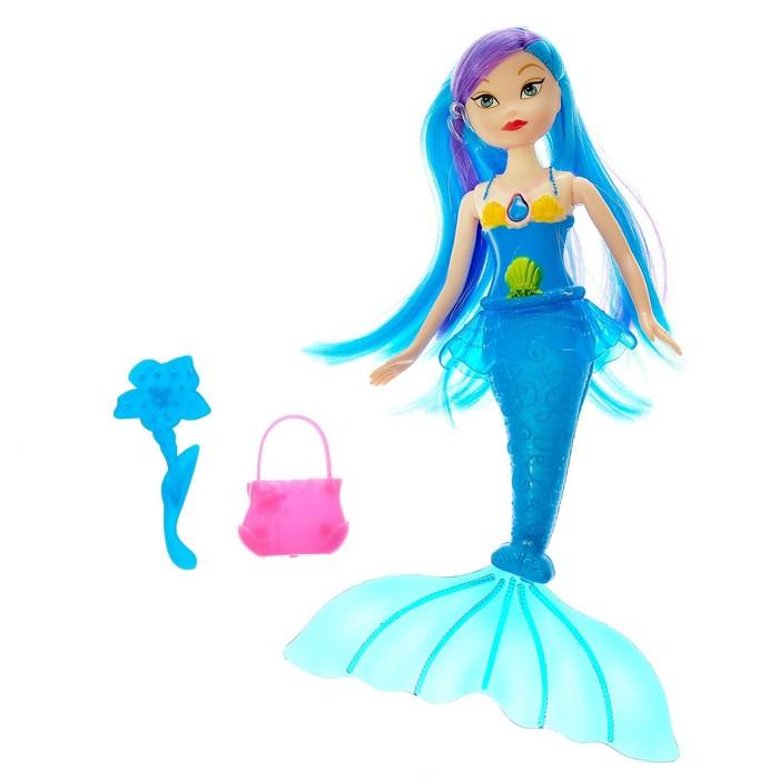 Кукла-русалка «Морская принцесса» с аксессуарами, в пакете, МИКС