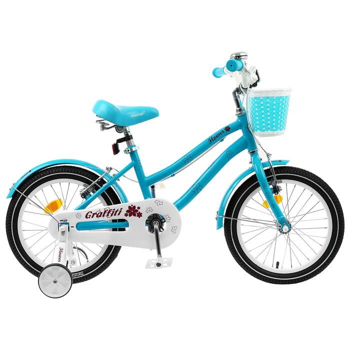"""Велосипед 18"""" Graffiti Flower, цвет бирюзовый"""