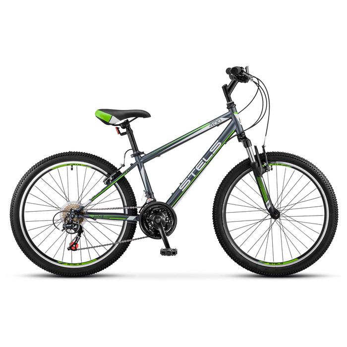 "Велосипед 24"" Stels Navigator-400 V, V040, цвет серый/зелёный, размер 12"""