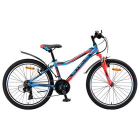 """Велосипед 24"""" Stels Navigator-450 V, V010, цвет синий/красный/чёрный, размер 13"""""""