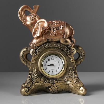 "Сувенир средний ""Слон с часами"", бронза"