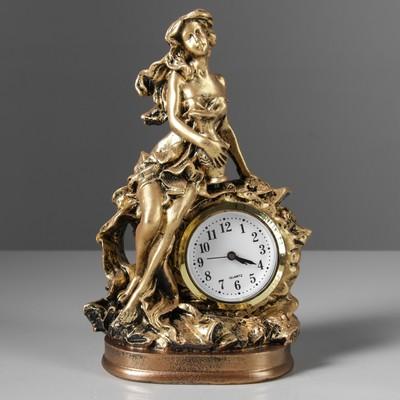 """Сувенир средний """"Дева с часами"""", золото"""