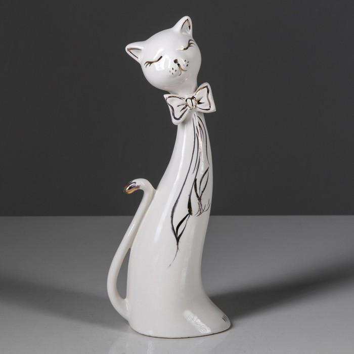 """Сувенир-статуэтка средняя """"Коты сладкая парочка"""" с золотом"""
