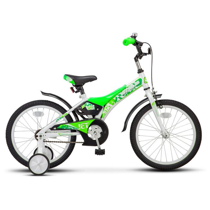 """Велосипед 18"""" Stels Jet, Z010, цвет белый/салатовый"""