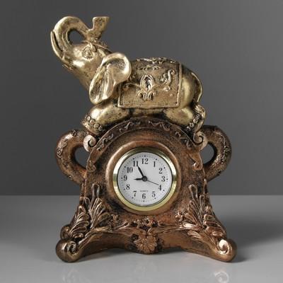 """Сувенир средний """"Слон с часами"""", золото"""