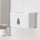 Диспенсер бумажных полотенец в листах и рулонах 22×13×14 см, пластик, цвет белый