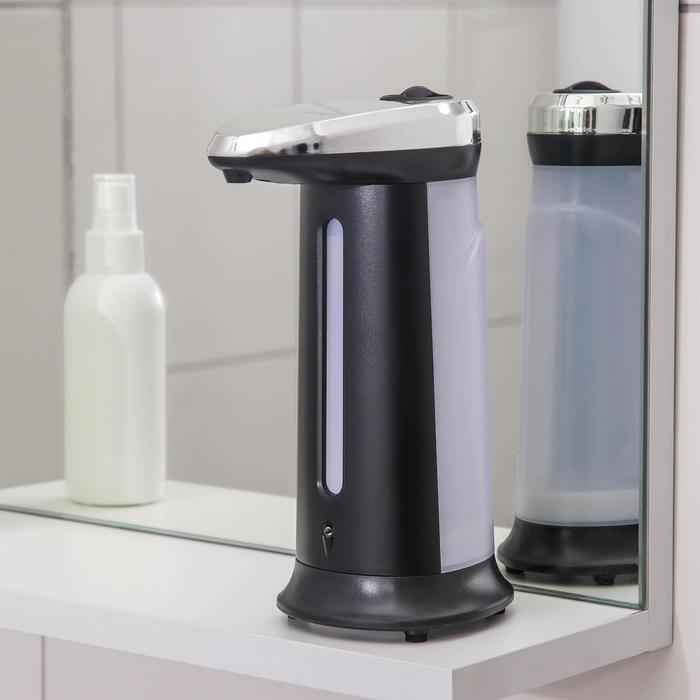 Диспенсер для антисептика/жидкого мыла, сенсорный, на батарейках, 400 мл, цвет чёрный