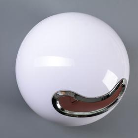 Держатель для туалетной бумаги 18×18×17 см (втулка 3 см), пластик, цвет белый