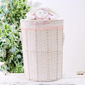 Корзина универсальная плетёная с крышкой Доляна Sweet Home, 49×49×54 см