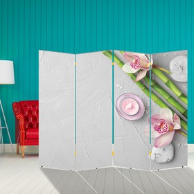 """Ширма """"Бамбук. Декор 14"""" 200 × 160 см"""