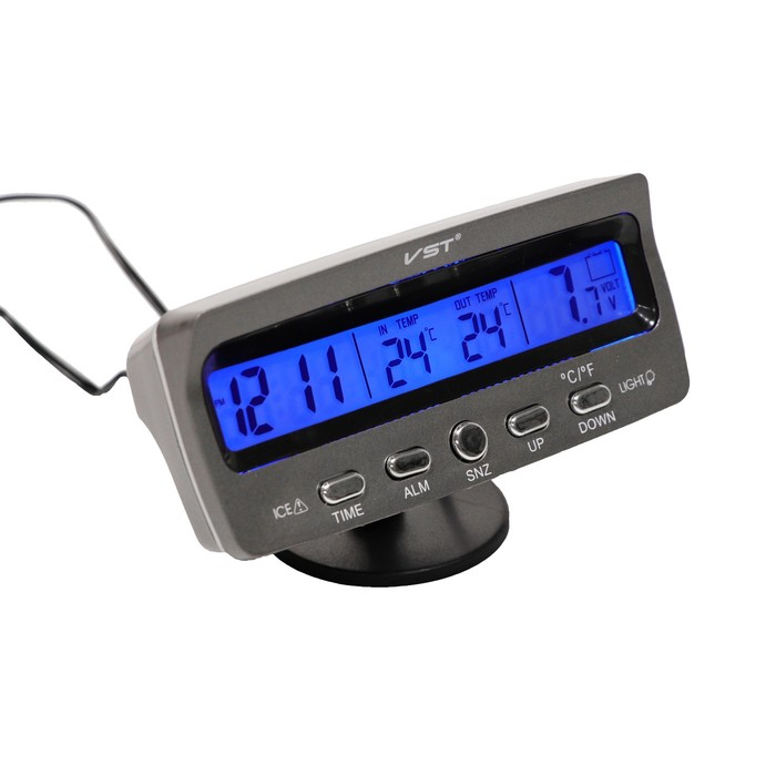 Часы-термометр электронные, 12/24 В, ЧТ-02