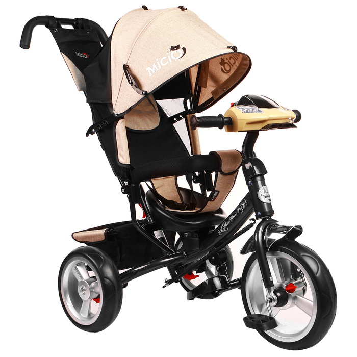 """Велосипед трёхколёсный Micio Classic Plus 2019, колёса EVA 10""""/8"""", цвет бежевый"""