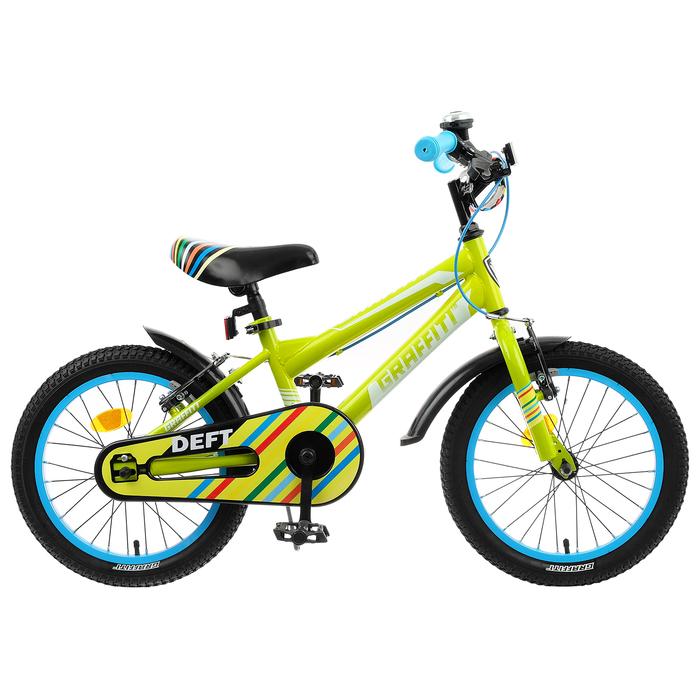 """Велосипед 18"""" Graffiti Deft, цвет салатовый"""