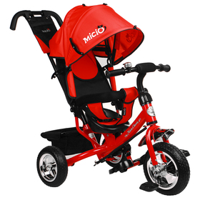 """Велосипед трёхколёсный Micio Classic, колёса EVA 10""""/8"""", цвет красный"""