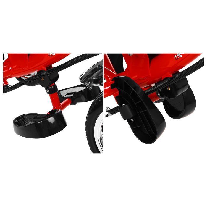 """Велосипед трёхколёсный Micio Classic 2019, колёса EVA 10""""/8"""", цвет красный - фото 537882637"""