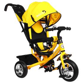 """Велосипед трёхколёсный Micio Classic 2019, колёса EVA 10""""/8"""", цвет жёлтый"""