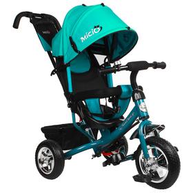 """Велосипед трёхколёсный Micio Classic 2019, колёса EVA 10""""/8"""", цвет бирюзовый"""