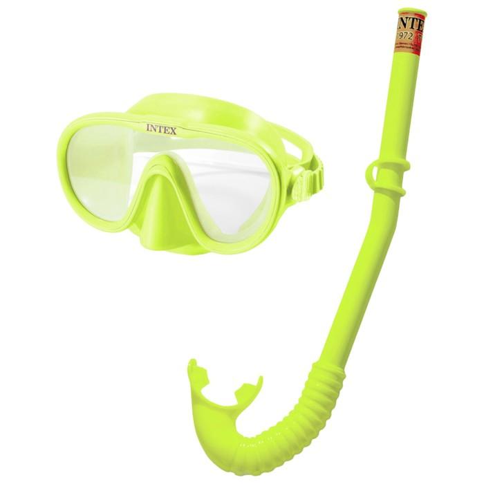 Набор для подводного плавания «Искатель приключений», маска, трубка, от 8 лет, 55642 INTEX