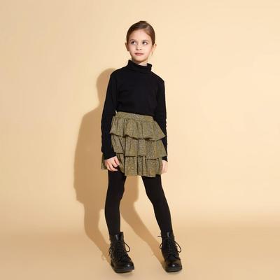 """Юбка для девочки MINAKU """"Леопард"""", рост 116, цвет зеленый"""