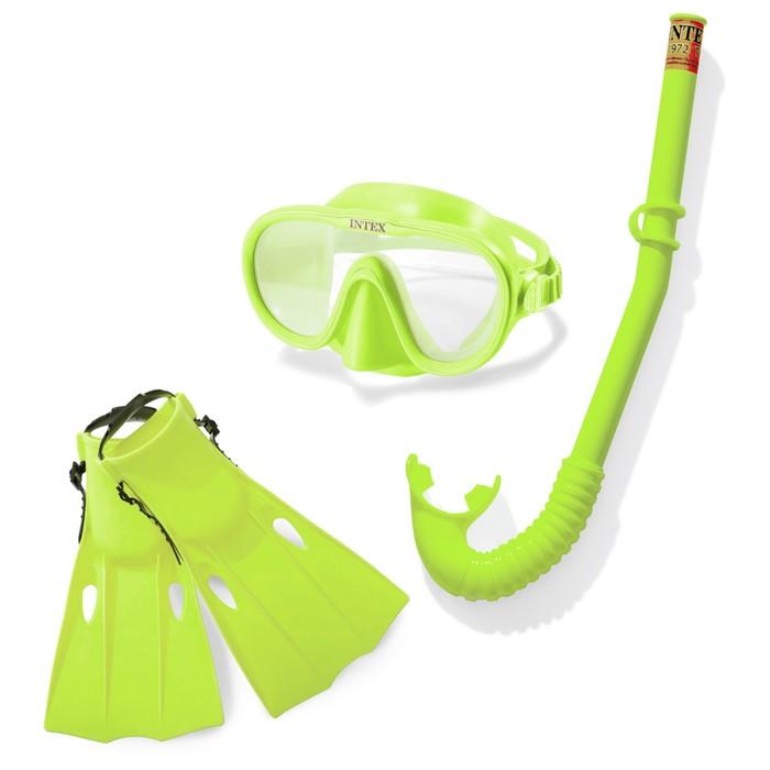 Набор для подводного плавния «Искатель приключений»(маска, трубка, ласты), от 8 лет