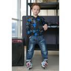 Ветровка для мальчика MINAKU «Камуфляж», рост 104–110 см, цвет синий