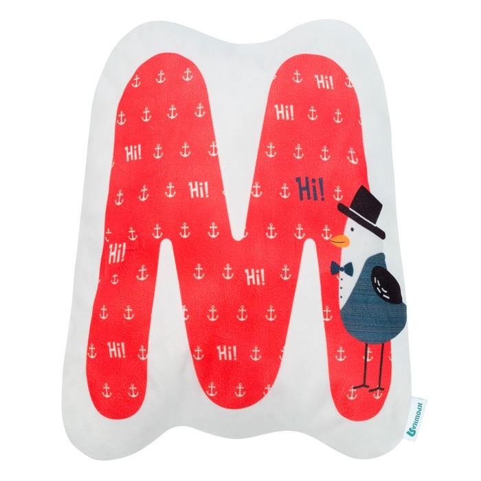 """Подушка """"Крошка Я"""" М, 40х45 см, красный, велюр, 100% п/э"""
