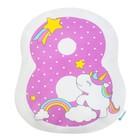 """Подушка """"Крошка Я"""" 8, 40х36 см, фиолетовый, велюр, 100% п/э"""