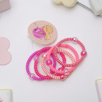 Scrunchy Magic 3 cm, the beads are transparent (price per 1 PCs.), mix