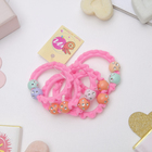 Scrunchy Magic 3 cm, the balls are pink, (price for 1 piece),