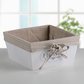 """Короб для хранения """"Home"""", средний, цвет белый"""