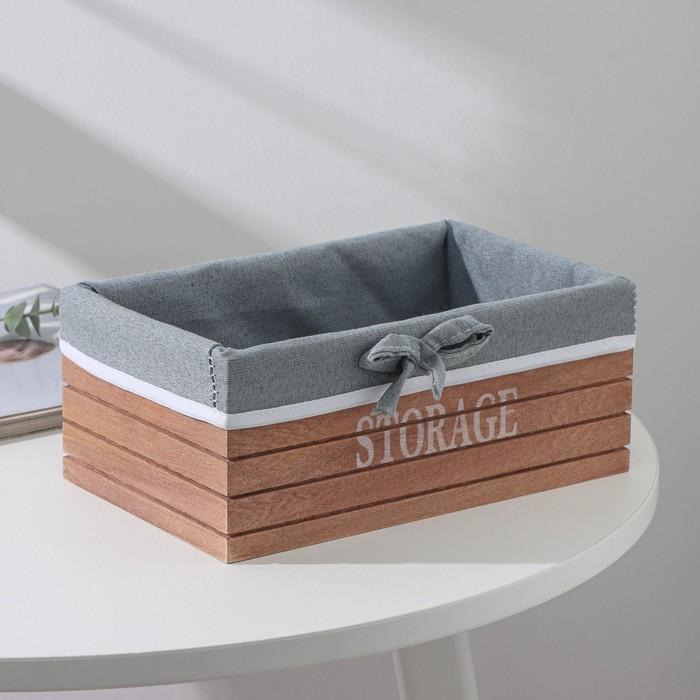 """Box for storage """"Storage"""", medium, brown"""