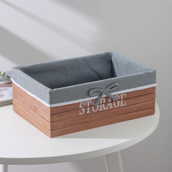 "Box for storage ""Storage"", large, brown"