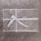 Бумага глянцевая в рулоне «Цветы», серебряная краска 0.68 × 8 м