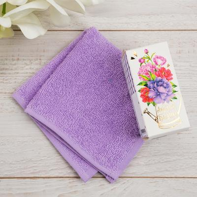 """The towel in the box """"Beloved grandmother"""" 30x30cm, 100% cotton"""